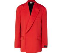 Oversized-blazer aus Wolle mit Cape-effekt