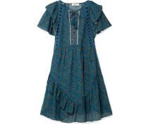 Kaylee Bedrucktes Kleid aus Voile aus einer Baumwollmischung