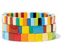 Rainbow Brite Set aus Drei Armbändern
