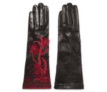 Handschuhe aus Leder mit Zierperlen