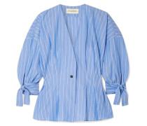 Trivano Bluse aus Gestreifter Baumwollpopeline