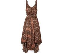 Juniper Scarf Asymmetrisches Kleid aus Bedrucktem Seidensatin