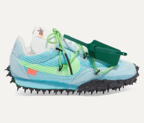 + Off-white Waffle Racer Sneakers aus Ripstop, Veloursleder, Mesh und Gummi