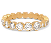 Croissant Ring aus 18 Karat  mit Diamanten