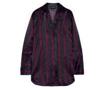 Fridari Gestreiftes Hemd aus Vorgewaschenem Satin