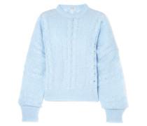 Oversized-pullover aus einer Mohairmischung