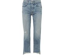 Helena Hoch Sitzende, Verkürzte Jeans