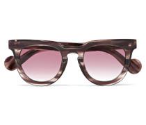 Sonnenbrille mit Eckigem Rahmen aus Azetat