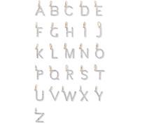 Alphabet Kette aus 14 Karat  mit Diamanten