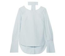 Reverse Gestreiftes Hemd aus Baumwollpopeline