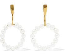 Ohrringe mit 14 Karat Goldauflage und Perlen