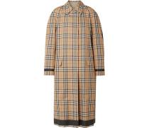 Wendbarer Mantel aus Kariertem Baumwoll-gabardine