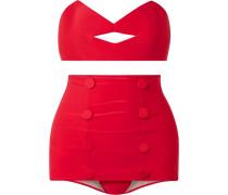 + Charlotte Olympia Pin-up Kiss Bandeau-bikini