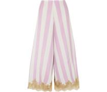 Wallah, Let's Stripes Pyjama-hose aus Seide