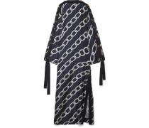 Bedruckte Robe aus Seiden-twill