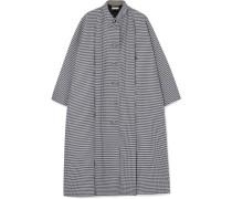 Oversized-mantel aus Crêpe aus einer Woll-seidenmischung