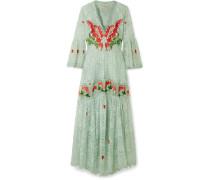 Potion Besticktes Kleid aus Spitze und Organza