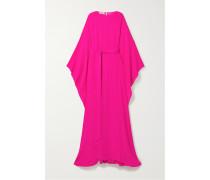 Robe Aus Neonfarbenem Seiden-crêpe