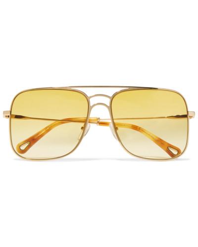 farbene Pilotensonnenbrille