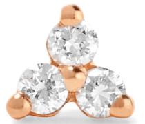 Ohrring aus 14 Karat  mit Diamanten