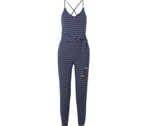 Jumpsuit aus Stretch-jersey mit Polka-dots