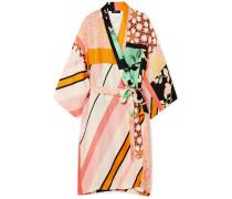 Naty Kimono aus Bedrucktem Satin