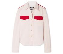 Zweifarbiges Hemd aus Baumwoll-twill