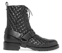 Rockstud Ankle Boots aus Gestepptem Leder