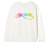 Sweatshirt aus Baumwoll-jersey mit Print