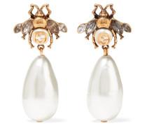 Verete Ohrringe mit Kristallen und Kunstperlen