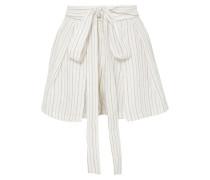 Jola Shorts aus Voile mit Metallic-streifen