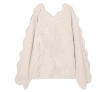 Oversized-pullover aus einer Gerippten Baumwoll-wollmischung