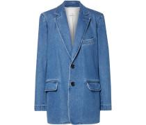 Oversized-blazer aus Stretch-denim