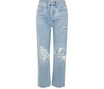 '90s Hoch Sitzende Boyfriend-jeans in Distressed-optik