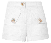 Shorts aus Floralem Jacquard