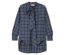 New Swing Kariertes Hemd aus Baumwollflanell