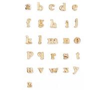 Alphabet Ohrring aus