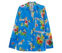 Floral Bedrucktes Hemd aus Seiden-seersucker