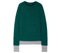 Pullover aus einer Wollmischung mit Streifen