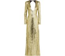 Robe aus Paillettenverziertem Tüll