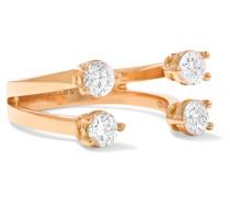 Phalanx-ring aus 18 Karat Rosé mit Diamanten