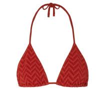Veston Triangel-bikini-oberteil aus Seersucker