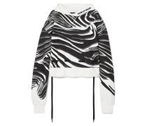 Bedruckter Oversized-hoodie aus Baumwoll-jersey