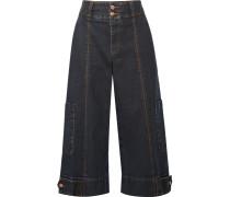 Verkürzte, Hoch Sitzende Jeans