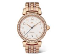 Da Vinci Automatic 36 Mm Uhr aus 18 Karat Rotgold