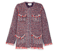 Jacke aus Bouclé-tweed aus einer Wollmischung