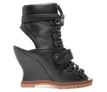 River Wedges aus Leder