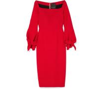 Mapplewell Kleid aus Crêpe mit Schleifen