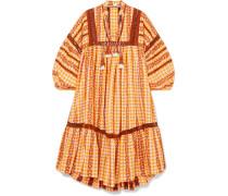 Kleid aus Baumwoll-jacquard