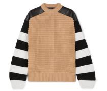 Gestreifter Pullover aus einer Wollfleece-kaschmirmischung